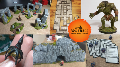 RPG Forge - miniatury, modely a RPG hry - crowfunding kampaň